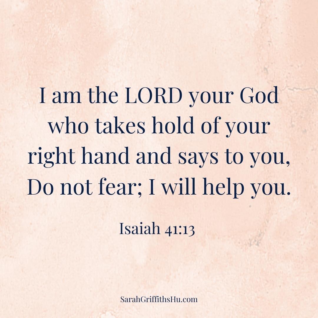 Isaiah 41 13 NIV