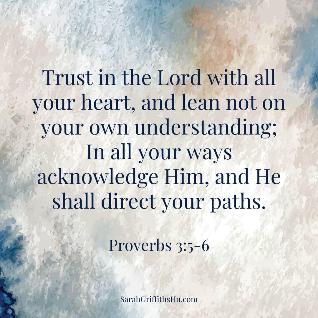 Proverbs 3 5 6 NKJV
