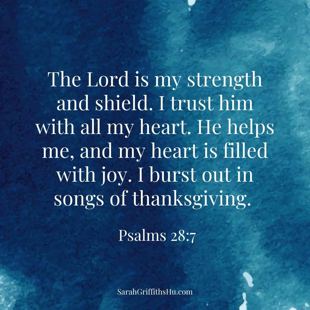 Psalms 28 7 NLT